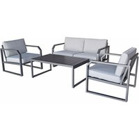 Product photograph showing Alarna 2 Seater Sofa Set In Grey
