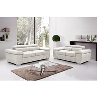 Product photograph showing Amando Fabric 3 Seater Sofa Beige
