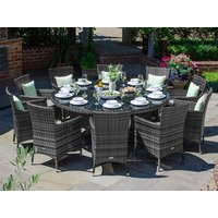 Product photograph showing Amelia 10 Seat Dining Set 1 8m Round Table