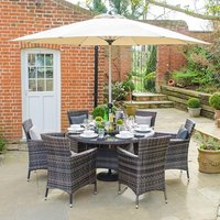 Product photograph showing Amelia 6 Seat Dining Set 1 3m Round Table