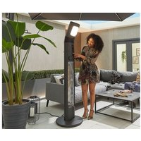 Product photograph showing Helios Apollo 3kw Free Standing Electric Patio Heater