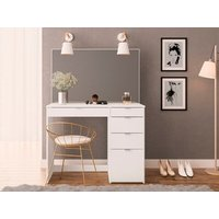 Product photograph showing Ava 5 Drawer Dressing Table Mirror