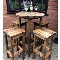 Product photograph showing Dales 4 Seat Bar Set With Bar Stools