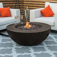Product photograph showing Brisbane Round Gas Fire Bowl