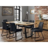Product photograph showing Brooklyn Dining Table With 6 Soho Dining Chairs