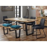 Product photograph showing Brooklyn Dining Set With 4 Soho Chairs Bench