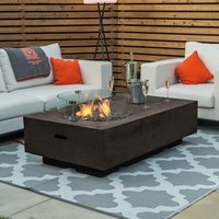 Product photograph showing Cairns Gas Firepit Coffee Table With Wind Guard