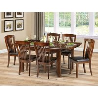 Product photograph showing Canterbury Extendable Dining Set With 6 Chairs