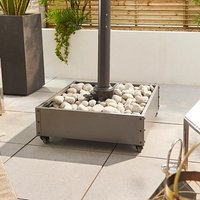 Product photograph showing Cantilever Parasol Base With Wheels - Stone Fillable