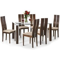 Product photograph showing Cayman Dining Table And 6 Dining Chairs