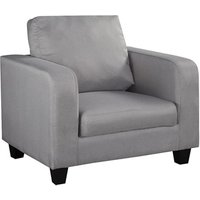 Product photograph showing Chair In A Box Grey Fabric