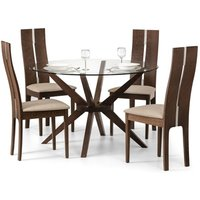 Product photograph showing Chelsea Glass Table 4 Cayman Chairs
