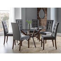Product photograph showing Chelsea Large Dining Table 6 Madrid Chair