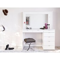 Product photograph showing Chloe 7 Drawer Dressing Table Mirror
