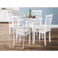 Product photograph showing Coast Dining Table 4 Coast Dining Chairs