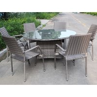 Product photograph showing Colman 6 Seat Round Set