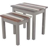 Product photograph showing Corona Vintage Nest Of 2 Tables