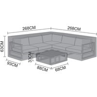 Product photograph showing Cover For Alessandria Corner Sofa Set