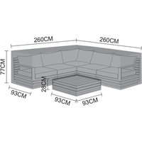 Product photograph showing Cover Pack For San Marino Corner Sofa Set