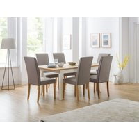 Product photograph showing Davenport Extending Dining Table 6 Seville Chairs