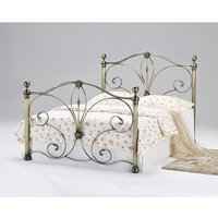 Product photograph showing Diane Antique Brass Bed