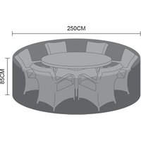 Product photograph showing Dining Set Cover - 6 Seat Round