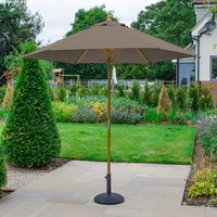 Product photograph showing Dominica Wooden Parasol - 2 5m Round