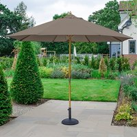 Product photograph showing Dominica Wooden Parasol - 3m Round