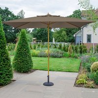 Product photograph showing Dominica Wooden Parasol - 3m X 2m Rectangular
