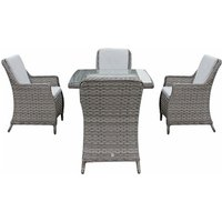 Product photograph showing Edwina 4 Seat Dining Set - 1m Square Table