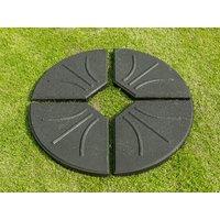 Product photograph showing Four Part Black Cantilever Base 80kg