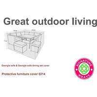 Product photograph showing Furniture Cover - Georgia Corner Sofa Set