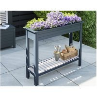 Product photograph showing Galaxy High Planter With Zinc Tray