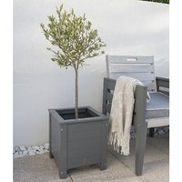 Product photograph showing Grigio Square Planter 35x35cm