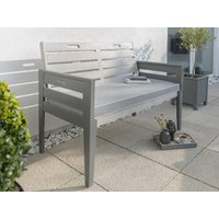 Product photograph showing Grigio Two Seat Bench Set