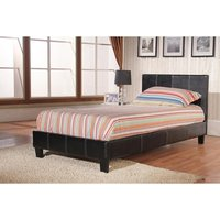 Product photograph showing Haven Pu Faux Leather Bed