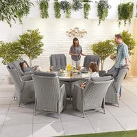 Product photograph showing Heritage Carolina 8 Seat Dining Set - 1 8m Round Table