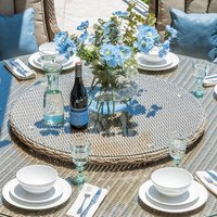 Product photograph showing Heritage Rattan Lazy Susan - 60cm