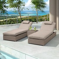 Product photograph showing Heritage Rhodes Sun Lounger Set