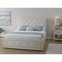 Product photograph showing Hollywood White Ottoman