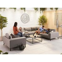 Product photograph showing Infinity Outdoor Fabric Corner Sofa Set With Armchair