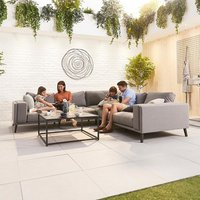 Product photograph showing Infinity Outdoor Fabric Corner Sofa Set