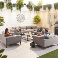 Product photograph showing Infinity Outdoor Fabric Corner Sofa Set With 2 Armchairs