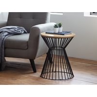 Product photograph showing Jersey Round Wire Lamp Table