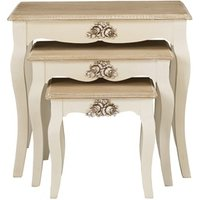 Product photograph showing Juliette Nest Of 3 Tables