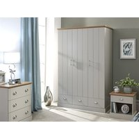Product photograph showing Kendal 3 Door 3 Drawer Wardrobe
