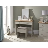 Product photograph showing Kendal Dressing Table With Stool