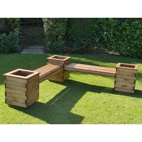 Product photograph showing L Shaped Garden Planter Seat