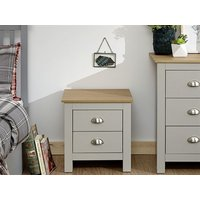 Product photograph showing Lancaster 2 Drawer Bedside Chest