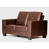 Product photograph showing Lena Bonded Leather And Pvc 2 Seater Sofa